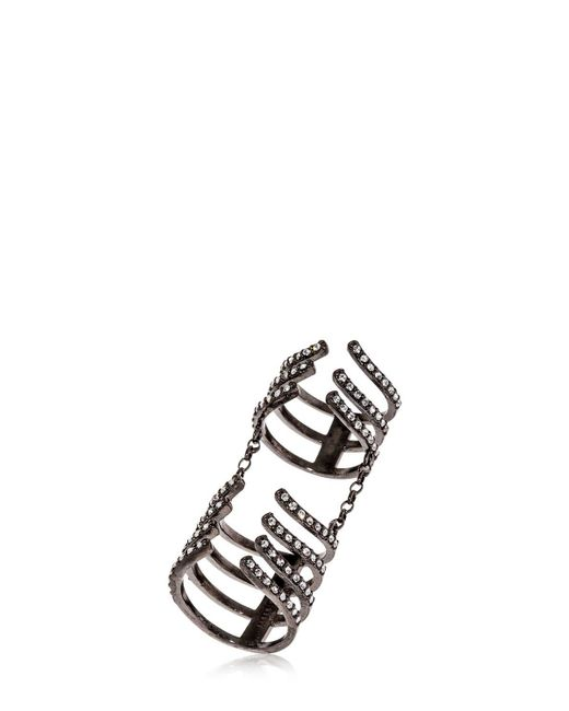 FEDERICA TOSI - Metallic Armour Hook Articulated Ring - Lyst