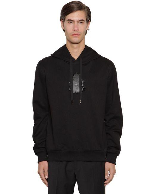 メンズ Dolce & Gabbana コットンテリーフーディー Black