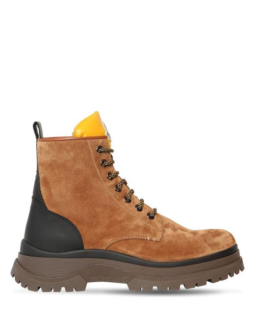 Moncler Brown Ulysse Suede Boots for men