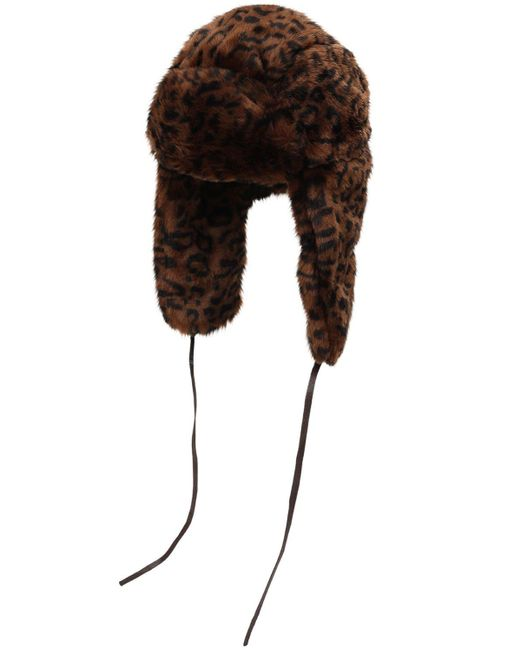 Шапка Из Искусственного Меха С Леопардовым Принтом Kangol, цвет: Brown