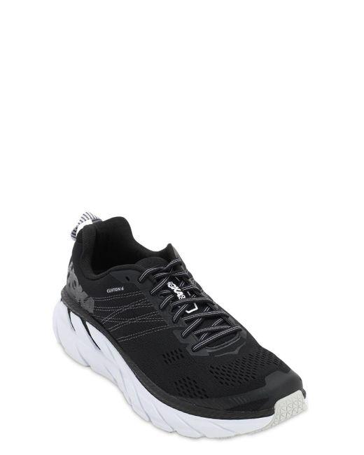 "Sneakers Running ""Clifton 6"" di Hoka One One in Black da Uomo"