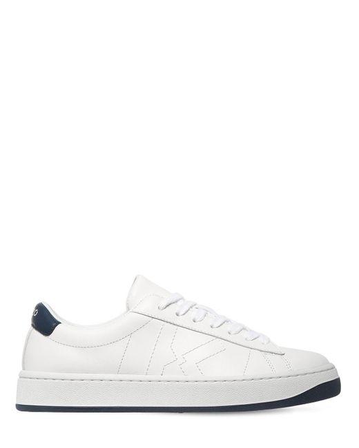 Кожаные Кроссовки С Вышитым Логотипом 20мм KENZO, цвет: White