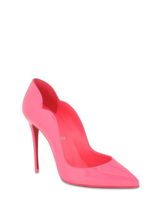 Туфли Hot Chic Из Лакированной Кожи 100mm Christian Louboutin, цвет: Pink