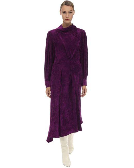 Бархатное Платье Из Вискозы Isabel Marant, цвет: Purple