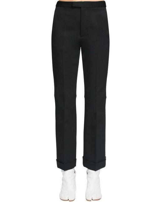 Back Cut Neoprene Canvas Pants Maison Margiela, цвет: Black