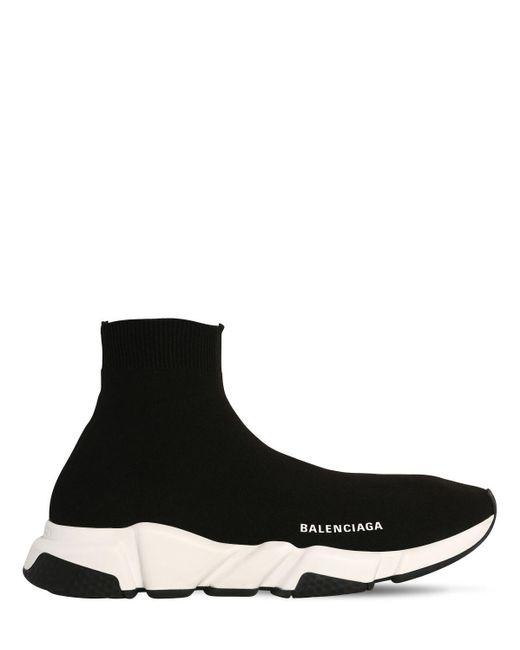 メンズ Balenciaga Speed ニットスニーカー Black