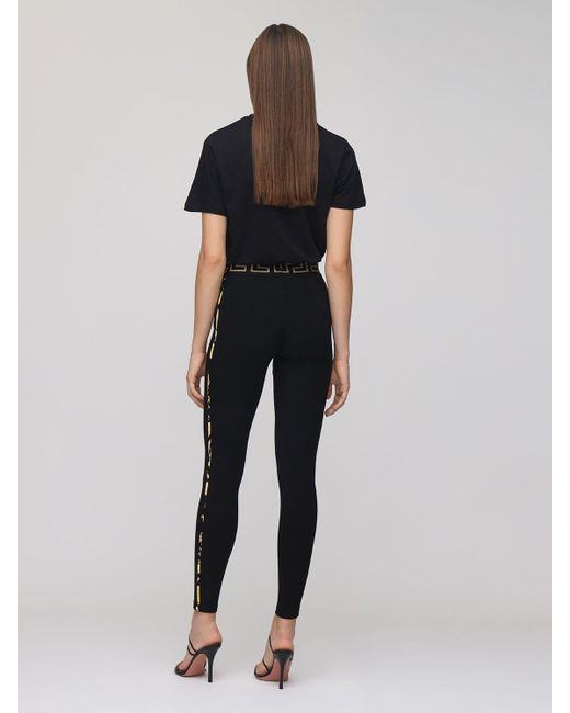 Versace ストレッチジャージーレギンス Black
