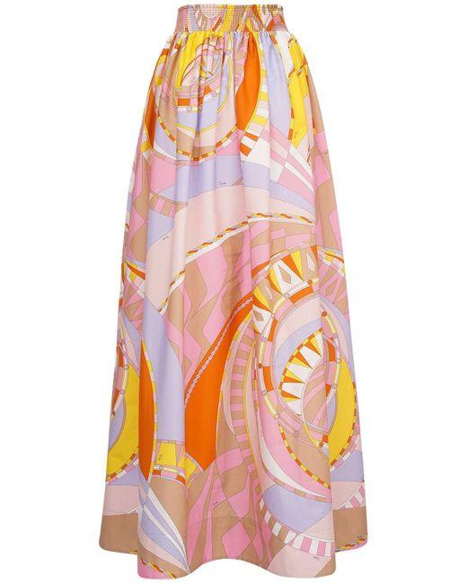 Emilio Pucci コットンスカート Multicolor