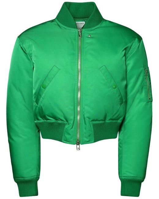 メンズ Bottega Veneta ナイロンサテンダウンジャケット Green