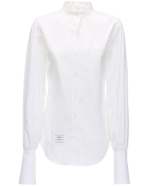 Thom Browne コットンポプリンシャツ White