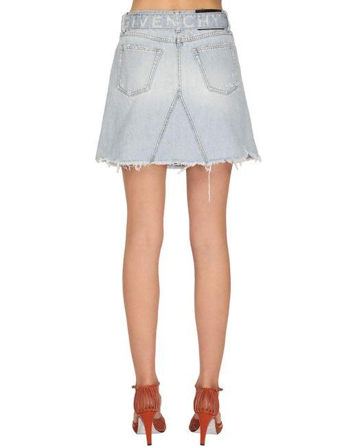 Givenchy コットンミニスカート Blue