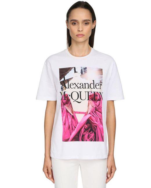 Alexander McQueen コットンジャージーtシャツ White