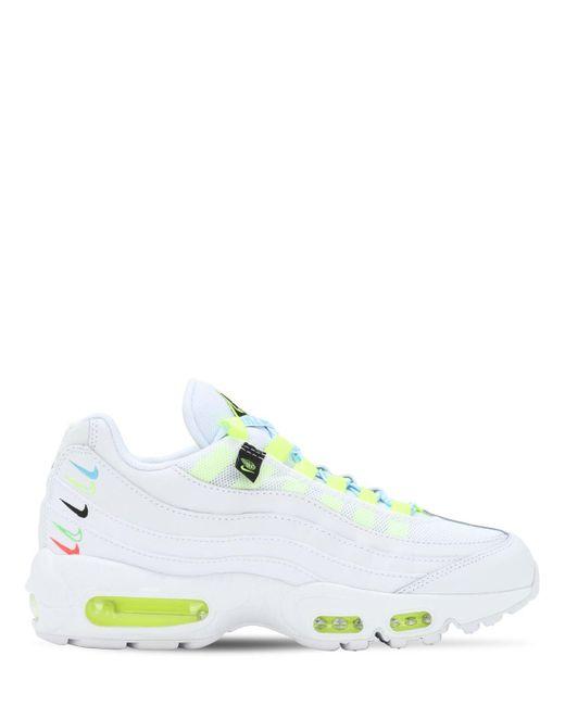 Chaussure Air Max 95 SE pour Cuir Nike en coloris Blanc - Lyst