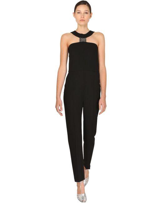 Givenchy クレープジャンプスーツ Black