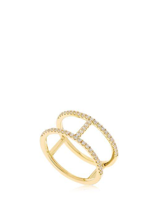 Apm Monaco | Metallic Croisette Yellow Silver Ring | Lyst
