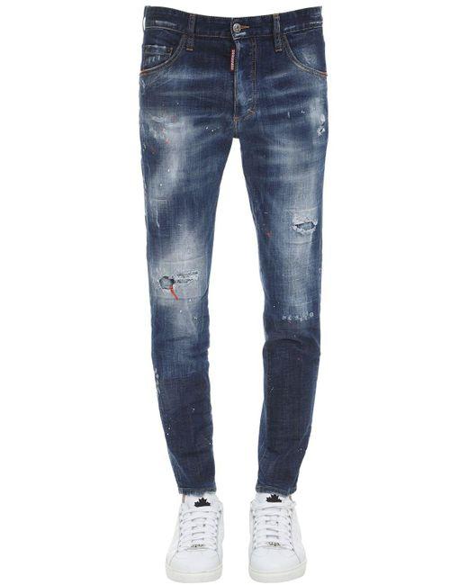 メンズ DSquared² コットンデニムジーンズ 15cm Blue