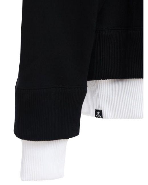 メンズ MASTERMIND WORLD レイヤードコットンスウェットシャツ Black