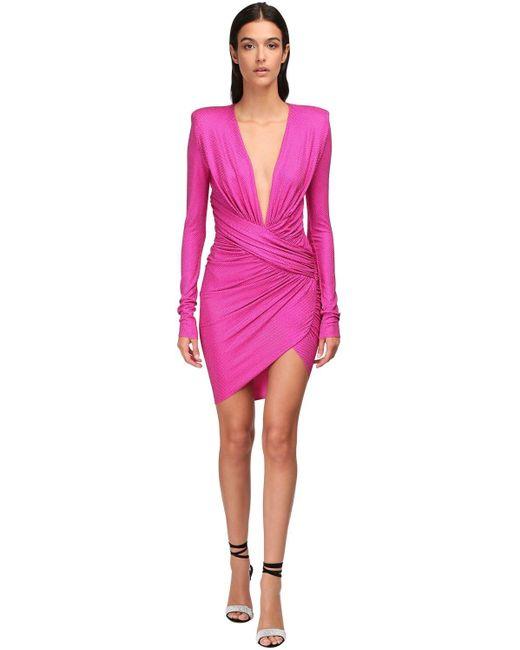 Alexandre Vauthier ドレープジャージードレス Pink