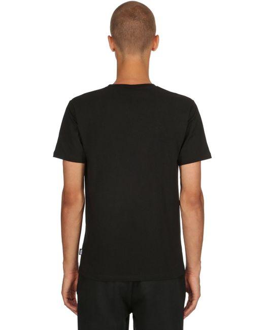 メンズ Moschino ストレッチジャージー スリムフィットtシャツ Black