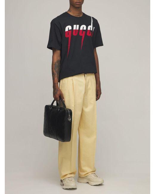 Ventiquattrore In Pelle Goffrata Gg di Gucci in Black da Uomo