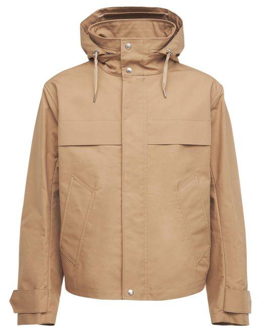 メンズ AMI フーデッドコットンキャンバスジップジャケット Natural
