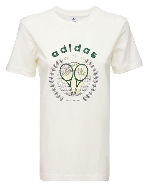 Adidas Originals コットンtシャツ White