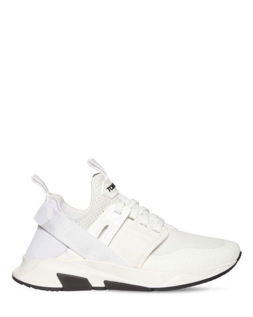 Кроссовки Из Сетки Jago Tom Ford для него, цвет: White