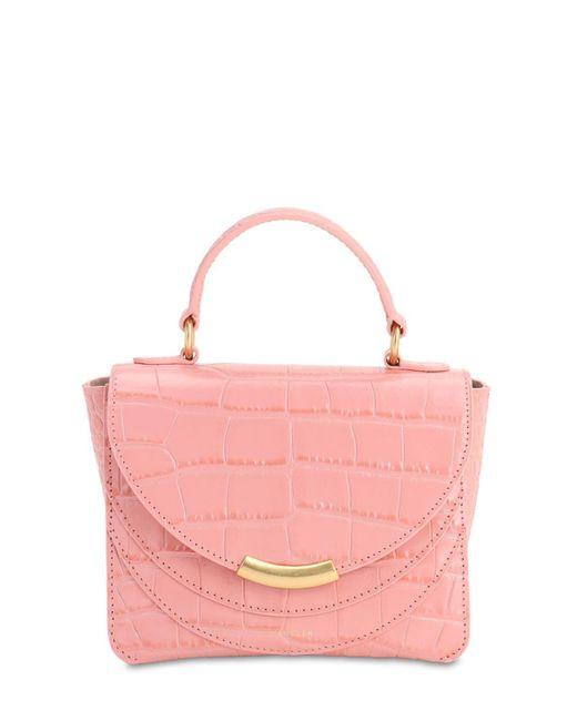 Wandler Luna クロコエンボスレザーバッグ Pink