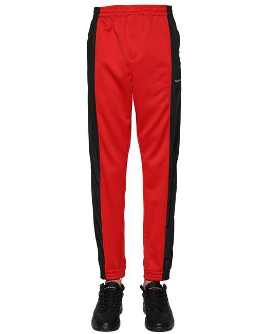 メンズ Givenchy バイカラーパンツ Red