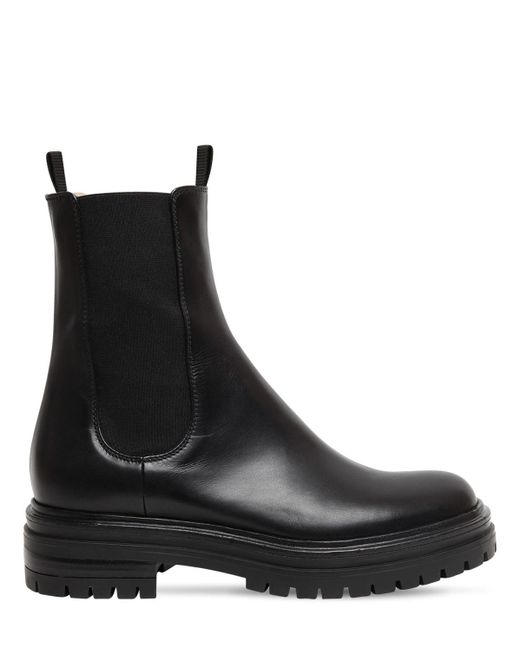 Кожаные Ботинки 30мм Gianvito Rossi, цвет: Black