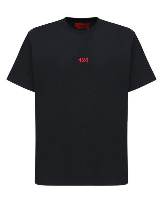 メンズ 424 コットンtシャツ Black