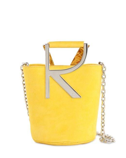Roger Vivier Rv スエードバケットバッグ Yellow