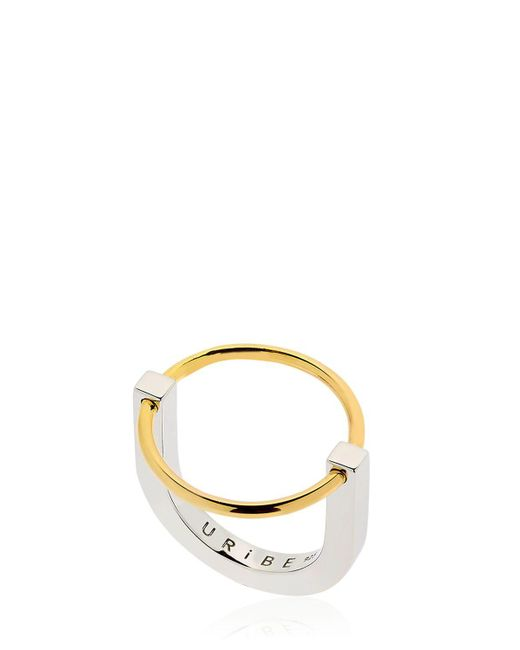 Uribe | Metallic Arno Circle Ring | Lyst