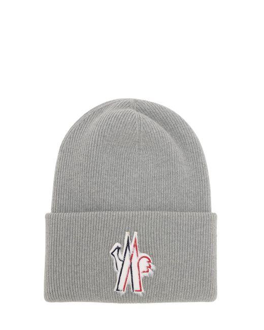 3 MONCLER GRENOBLE ウールトリコット帽 Gray