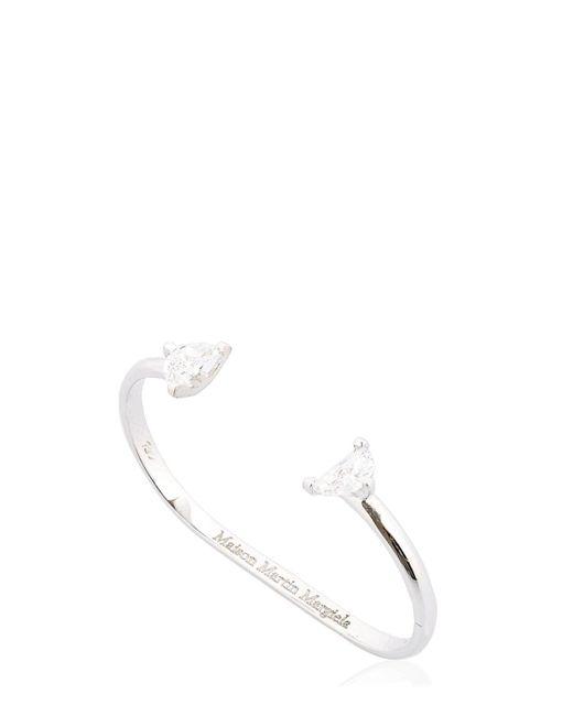Maison Margiela Solitaire Double Ring White