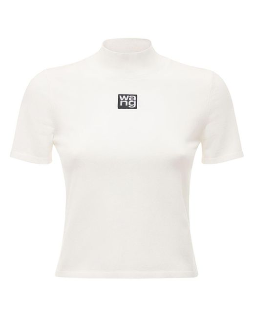 Alexander Wang ストレッチジャージーtシャツ White