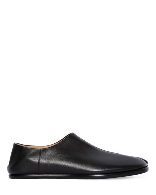 "Maison Margiela - Black Zapatos Planos ""tabi"" De Piel Cepillada for Men - Lyst"
