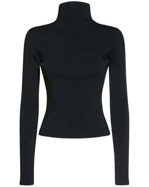 Versace ビスコースブレンドタートルネックセーター Black