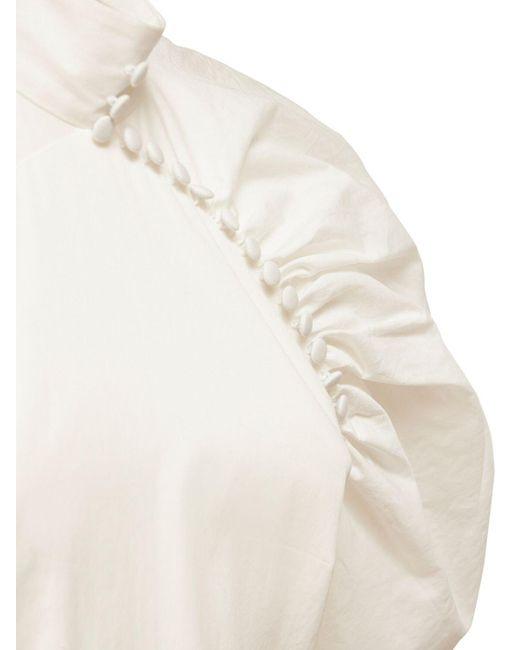 ROTATE BIRGER CHRISTENSEN Kim コットンポプリンミニドレス White