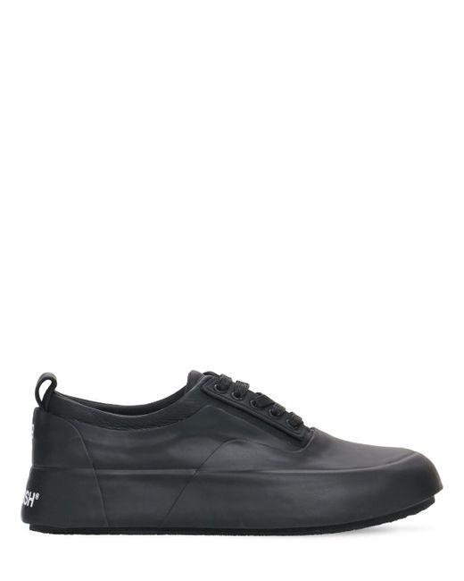Ambush Black 30mm Hohesneakers Aus Vulkanisiertem Gummi & Leder