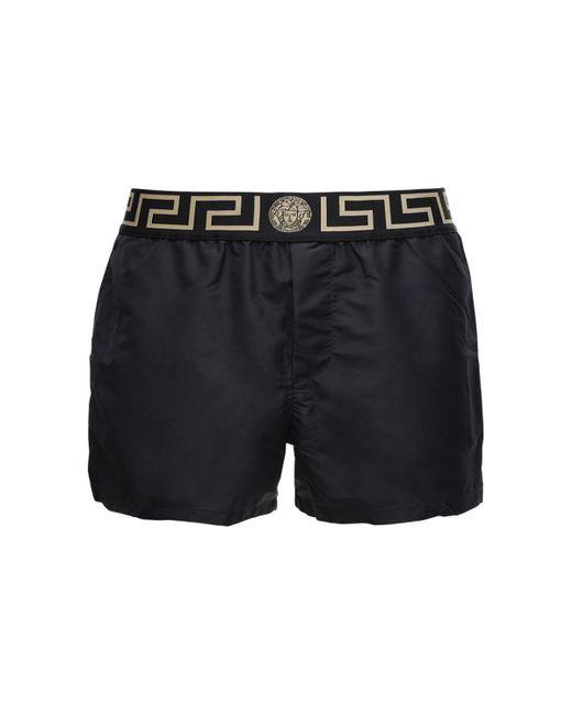 Плавательные Шорты Из Нейлона Versace для него, цвет: Black
