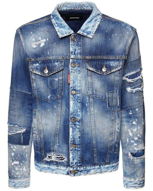 メンズ DSquared² オーバーサイズコットンデニムジャケット Blue