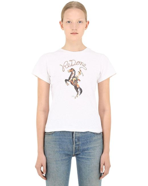 Re/done コットンtシャツ White