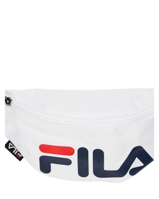 Сумка На Пояс С Принтом Логотипа Fila, цвет: White