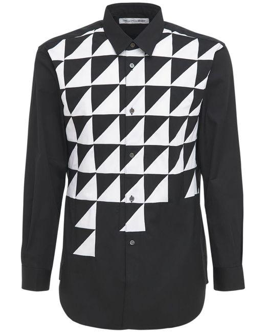 メンズ Comme des Garçons コットンポプリンシャツ Black