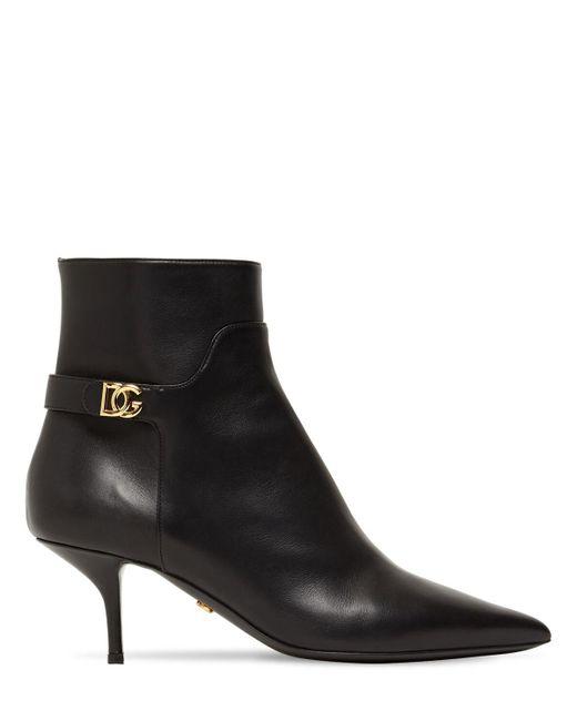 Dolce & Gabbana レザーアンクルブーツ 60mm Black