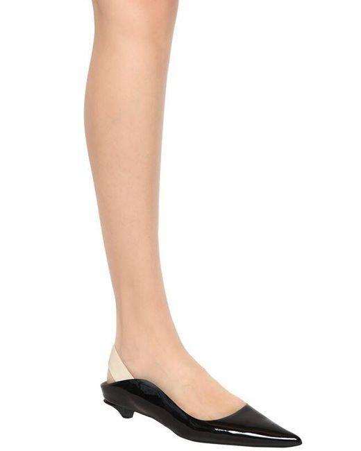Proenza Schouler Black 20mm Flache Schuhe Aus Lackleder