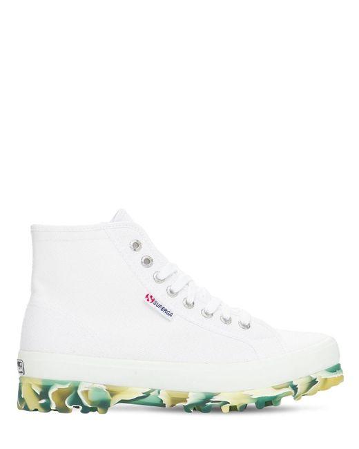 Высокие Кеды Из Парусины Superga, цвет: White