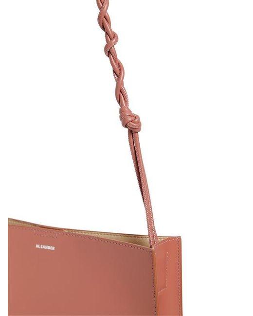 """Borsa Media """"tangle"""" In Pelle di Jil Sander in Pink"""