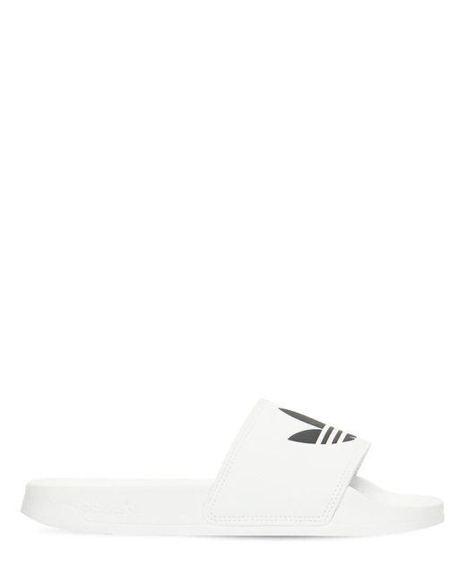 Adidas Originals Adilette ライトスライドサンダル White